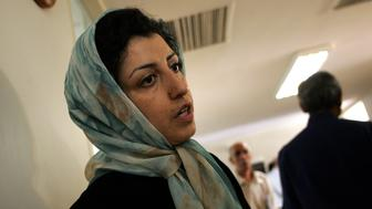 (FILES) -- File Picture dated June 25, 2007 shows Iranian opposition human rights activist, Narges Mohammadi, at the Defenders of Human Rights Center in Tehran. Mohammadi an aide to Iranian Nobel peace winner Shirin Ebadi has been arrested before the anniversary of Iran's disputed presidential election, Ebadi's rights groups said on June 11, 2010. AFP PHOTO/BEHROUZ MEHRI (Photo credit should read BEHROUZ MEHRI/AFP/Getty Images)