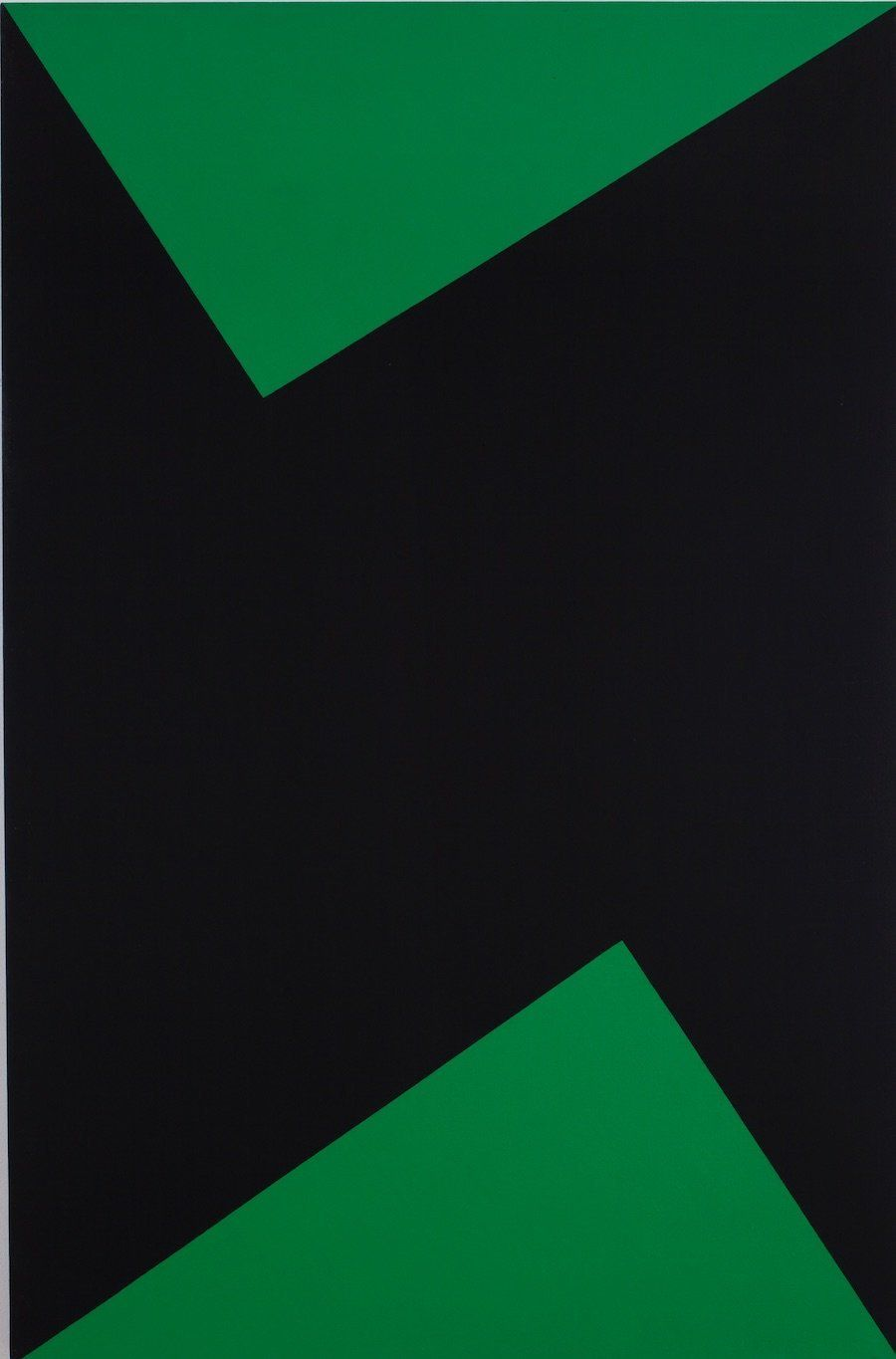 "Carmen Herrera, ""Wednesday,"" 1978, acrylic on canvas, 66 x 42 in. (167.6 x 106.7 cm)."