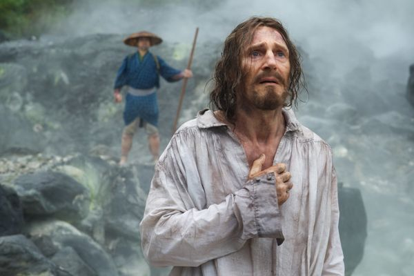 "It turns out Liam Neeson isn't in much of ""Silence."" He plays the mentor that Andrew Garfield and Adam Driver's Jesuit priest"
