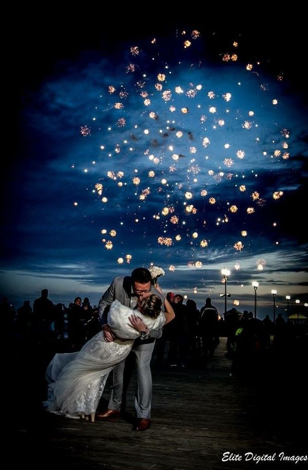 """Lindsay and Fred got married at The Park Pavilion in Seaside Heights, New Jersey on New Year's Eve! We were able to battle t"
