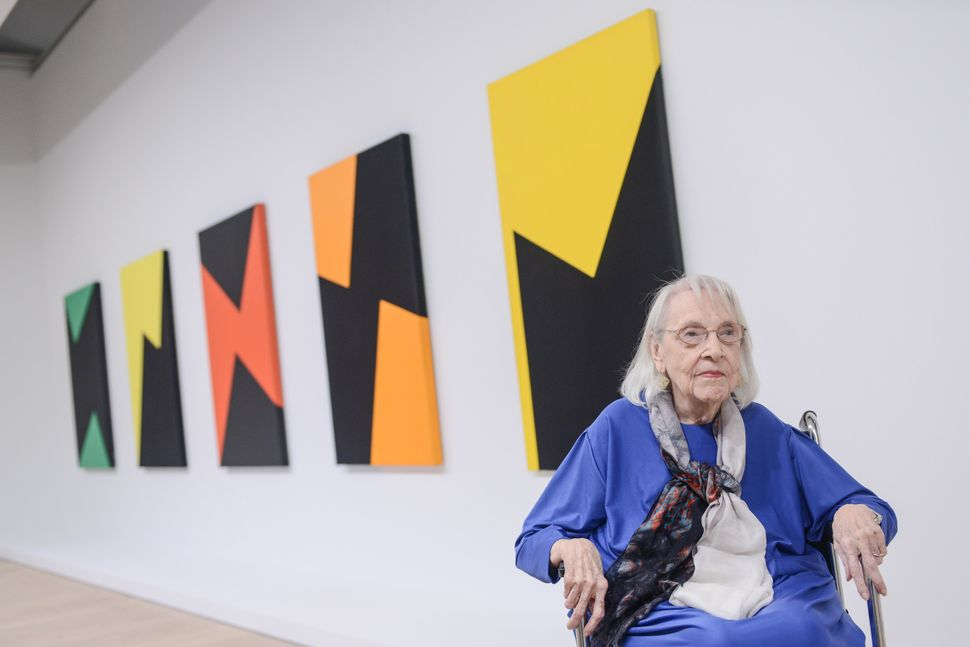 Carmen Herrera at the Whitney Museum of Art on September 14, 2016.