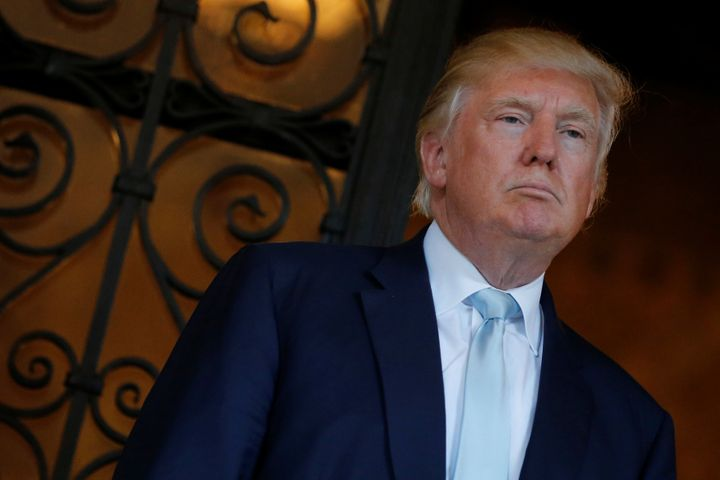 U.S. President-elect Donald Trump delivered brief remarks to reporters at the Mar-a-lago Club in Palm Beach, Florida, U.S. De