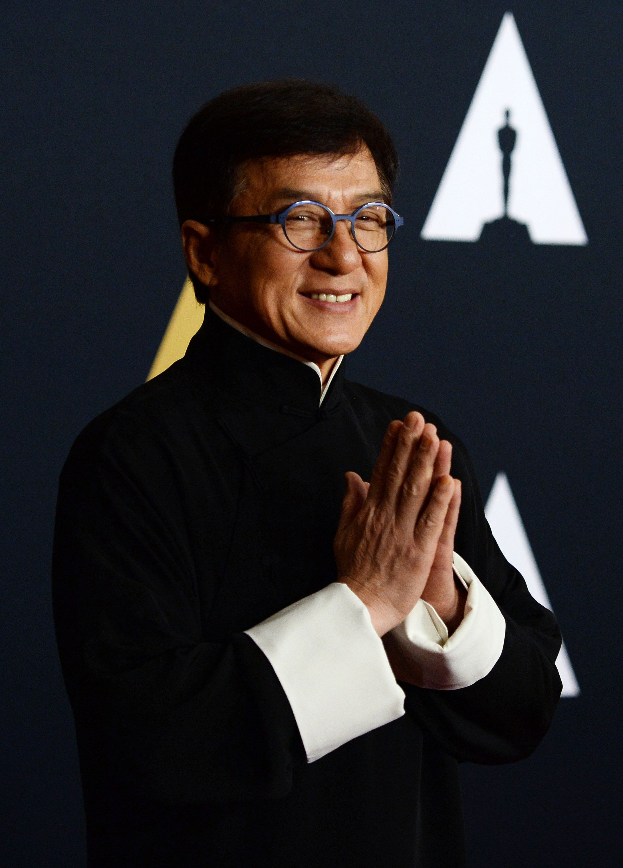 HOLLYWOOD, CA - NOVEMBER 12:  Actor and martial artist Jackie Chan arrives at the Academy of Motion Picture Arts and Sciences' 8th Annual Governors Awards at The Ray Dolby Ballroom at Hollywood & Highland Center on November 12, 2016 in Hollywood, California.  (Photo by Amanda Edwards/WireImage)