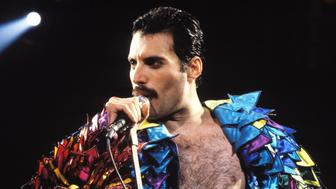 Freddie Mercury of Queen, 1982 Tour at the Various Locations in Oakland, California (Photo by Steve Jennings/WireImage)
