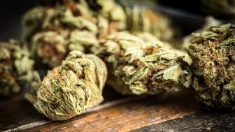 Heap of marijuana