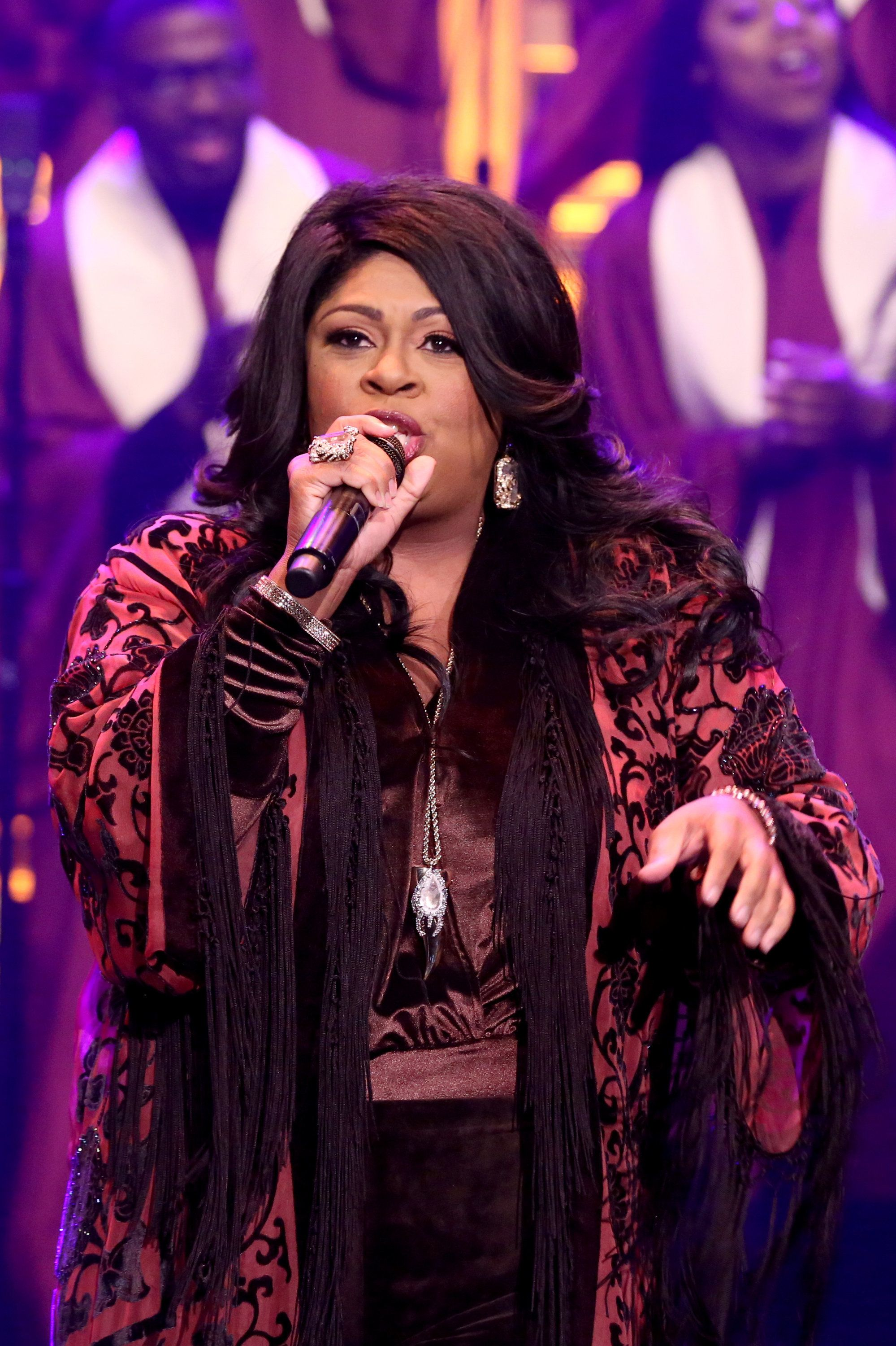 "Kim Burrell performs on ""The Tonight Show Starring Jimmy Fallon."""