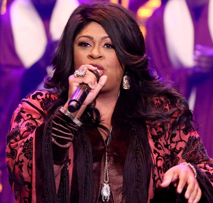 "Kim Burrell performs on ""The Tonight Show Starring Jimmy Fallon."""