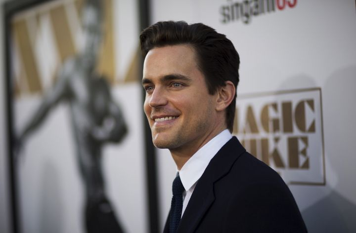 """Matt Bomer poses at the premiere of """"Magic Mike XXL"""" in Hollywood, California."""