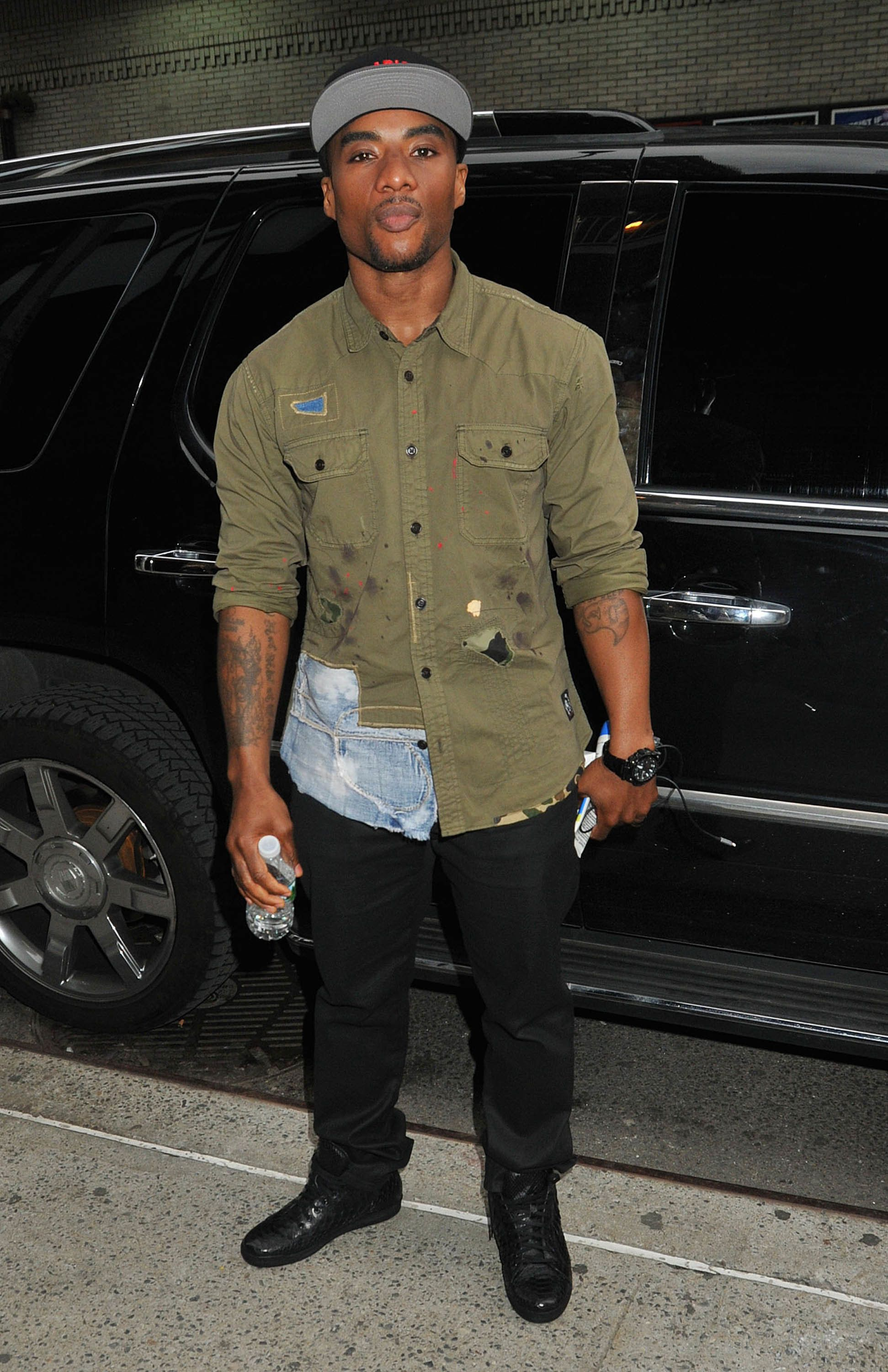 NEW YORK, NY - MAY 10:  Charlamagne Tha God is seen on May 10, 2016 in New York City.  (Photo by Demis Maryannakis/Star Max/GC Images)
