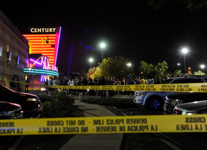 Aurora Police responded to the Century 16 movie theatre early Friday morning, July 20, 2012.