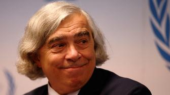 U.S. Energy Secretary Ernest Moniz addresses a news conference during the IAEA (International Atomic Energy Agency) general assembly in Vienna, Austria September 14, 2015. REUTERS/Heinz-Peter Bader
