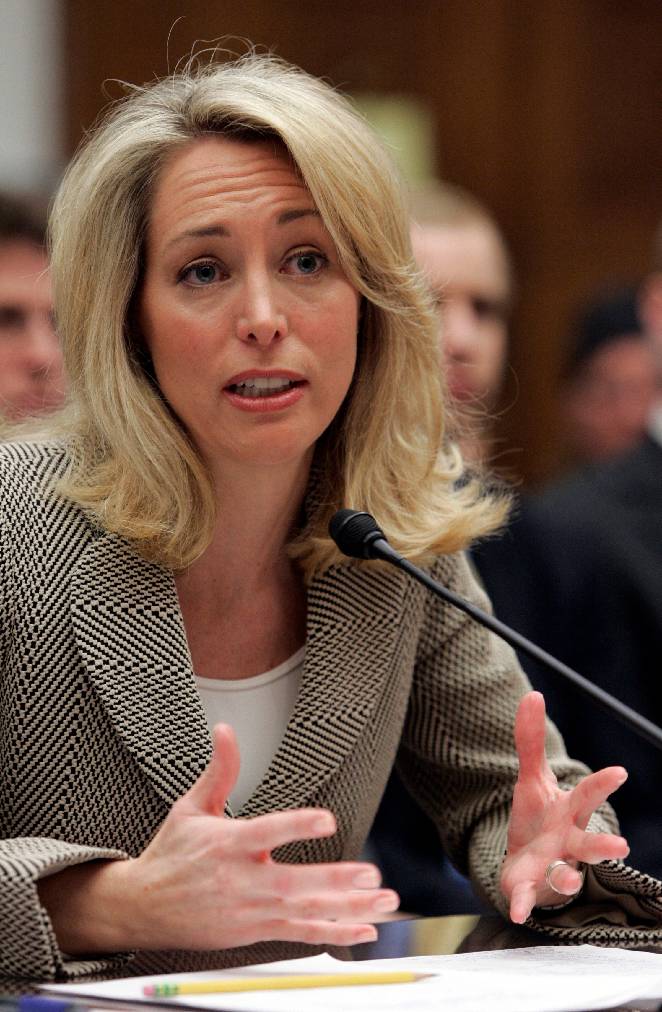 "Former CIA employee Valerie Plame Wilson testifies at a House Oversight and Government Reform Committee hearing on Capitol Hill in Washington March 16, 2007. The CIA officer at the heart of the criminal probe that reached deep into the White House told U.S. lawmakers on Friday that senior officials at the White House and State Department ""carelessly and recklessly"" blew her cover to discredit her diplomat husband.    REUTERS/Larry Downing     (UNITED STATES)"