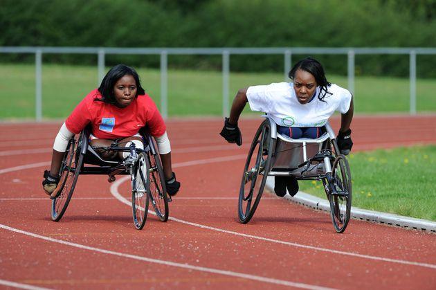 Wafula Strike coachingDedeline Mibamba Kimbatahas (left) a Paralympian from the Democratic Republic...