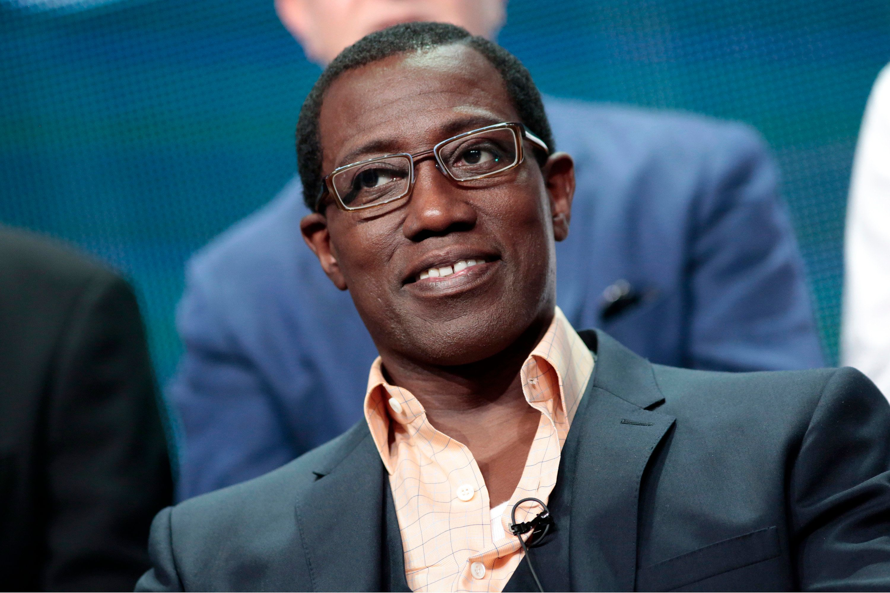 """Cast member Wesley Snipes participates in the NBCUniversal """"The Player"""" panel at the Television Critics Association (TCA) Summer 2015 Press Tour in Beverly Hills, California August 13, 2015.  REUTERS/Jonathan Alcorn"""