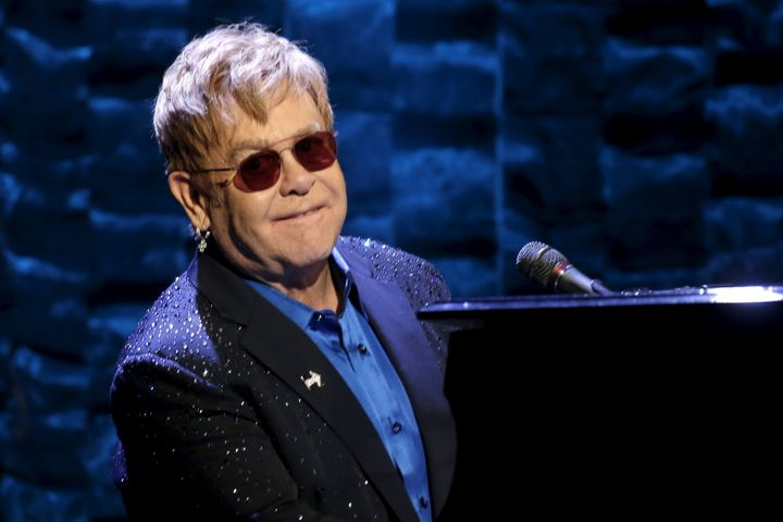 Making a racket, man: Elton John thanked Russia's Vladimir Putin on Instagram for giving him a call.