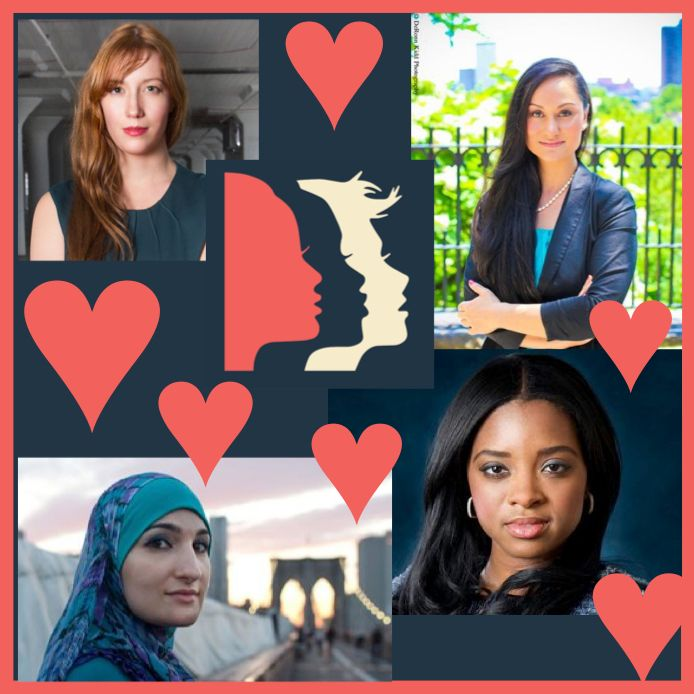 The Women's March on Washington's National Committee is headed up by a diverse group of badass women (clockwise from left): B