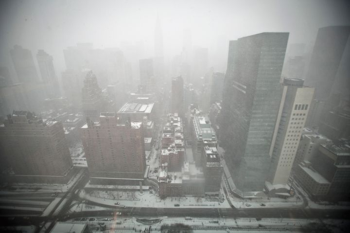 Mid-town Manhattan is pictured from the top of the United Nations building in New York January 26, 2015.