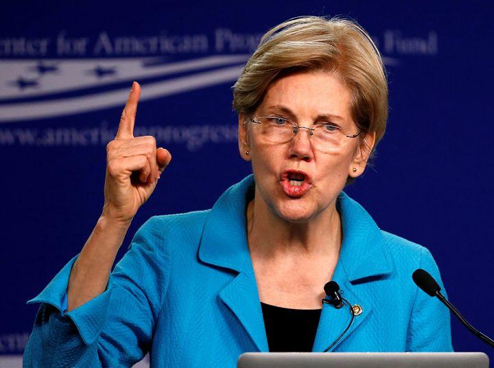 U.S. Senator Elizabeth Warren (D-MA) delivers remarks at the Center for American Progress in Washington U.S. July 13, 2016.