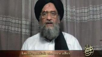 "Al Qaeda's deputy leader Ayman al-Zawahri speaks in an image taken from video footage released on April 29, 2006. Zawahri said hundreds of suicide bombers had ""broken America's back"" in  three years of war in Iraq, according to a video posted on the Internet on Saturday. The release of the video came just days after the broadcast  of an audio tape from Al Qaeda leader Osama bin Laden and a rare video from Abu Musab al-Zarqawi, the group's leader in Iraq.   REUTERS/Handout"