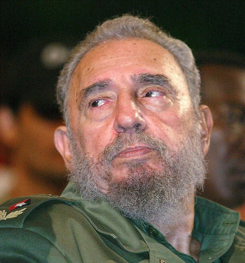 Castro attends a ceremony to inaugurate remodelled schools in Havana on Aug. 13, 2002, his 76th birthday.