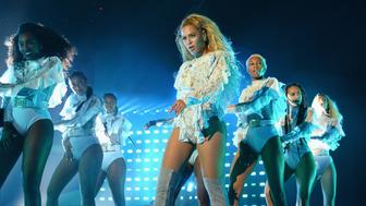 SANTA CLARA, CA - SEPTEMBER 17:  Entertainer Beyonce performs on stage during 'The Formation World Tour' at Levi's Stadium on September 17, 2016 in Santa Clara, California.  (Photo by Kevin Mazur/WireImage)