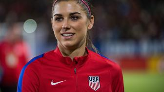CARSON, CA - November 13:  Alex Morgan #13 of United States prior to United States international friendly match against Romania at the StubHub Center on November 13, 2016 in Carson, California. The United States won the match 5-0.(Photo by Shaun Clark/Getty Images)
