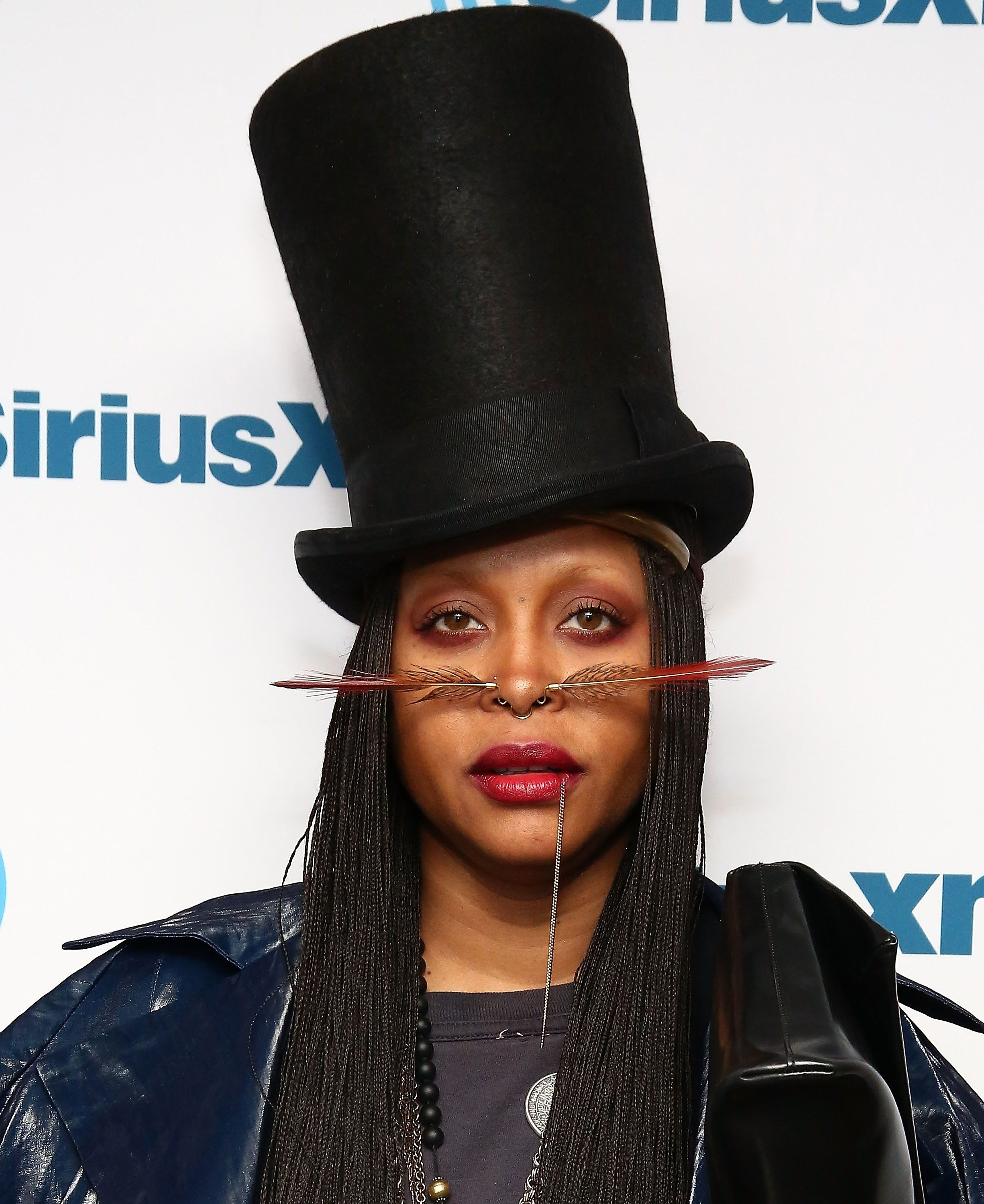 NEW YORK, NY - NOVEMBER 21:  (EXCLUSIVE COVERAGE) Singer Erykah Badu visits the SiriusXM Studios on November 21, 2016 in New York City.  (Photo by Astrid Stawiarz/Getty Images)