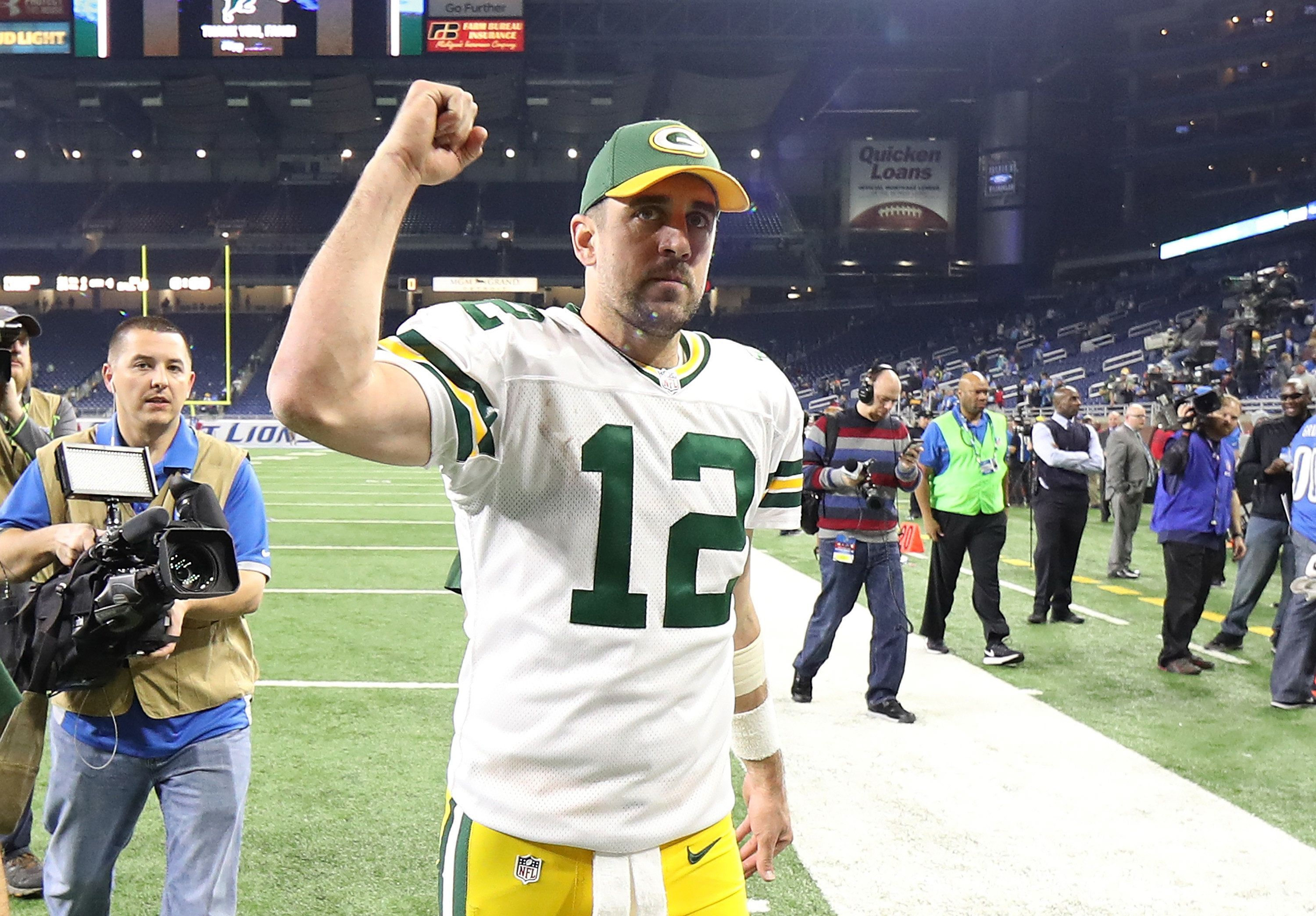 Packers quarterback Aaron Rodgers led the league with 40 touchdown passes this season, and may be on his way to a third MVP s