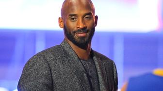 SHENYANG, CHINA - NOVEMBER 08:  American basketball player Kobe Bryant attends a commercial activity on November 8, 2016 in Shenyang, Liaoning Province of China.  (Photo by VCG/VCG via Getty Images)