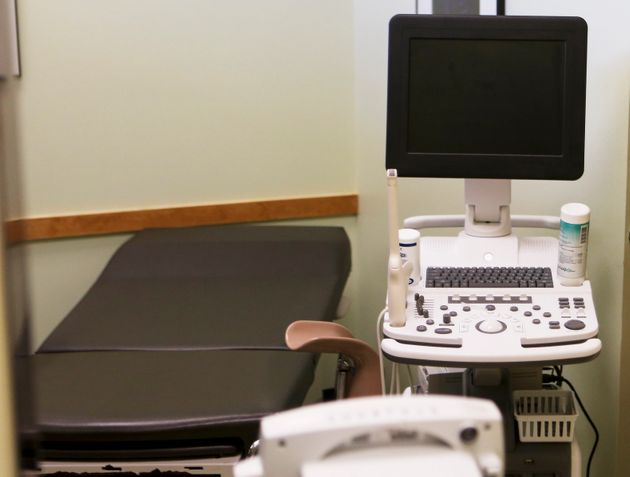 An exam room at the Planned Parenthood South Austin Health Center is shown following the U.S. Supreme...