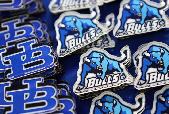 Buffalo Bulls gearfor sale on the concourse at UB Stadium on September 12, 2014 in Buffalo, New York.