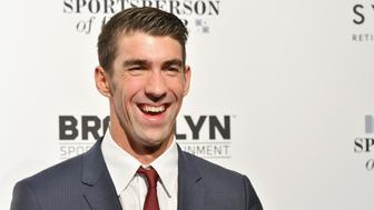 NEW YORK, NY - DECEMBER 12:  Olympic Swimmer Michael Phelps attends the Sports Illustrated Sportsperson of the Year Ceremony 2016 at Barclays Center of Brooklyn on December 12, 2016 in New York City.  (Photo by Slaven Vlasic/Getty Images for Sports Illustrated)