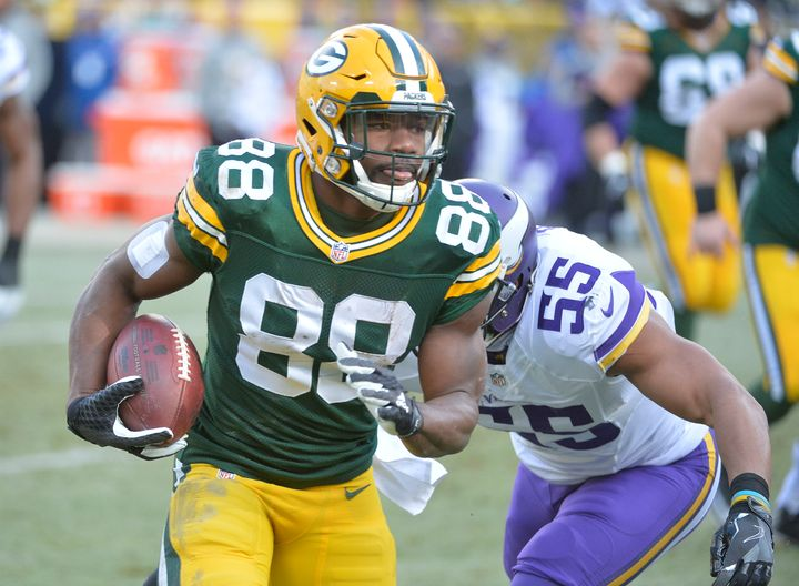 Converted running back Ty Montgomery averages 5.9 yards per carry, which would rank first in the NFL if he had the necessary