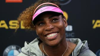 AUCKLAND, NEW ZEALAND - JANUARY 03:  Serena Williams of USA speaks to media after her win against Pauline Parmentier of France on day two of the ASB Classic on January 3, 2017 in Auckland, New Zealand.  (Photo by Fiona Goodall/Getty Images)
