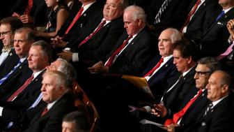 Republican members of Congress watch as they and their fellow members vote for House Speaker on the first day of the new congressional session in the House chamber at the U.S. Capitol in Washington, U.S. January 3, 2017. REUTERS/Jonathan Ernst