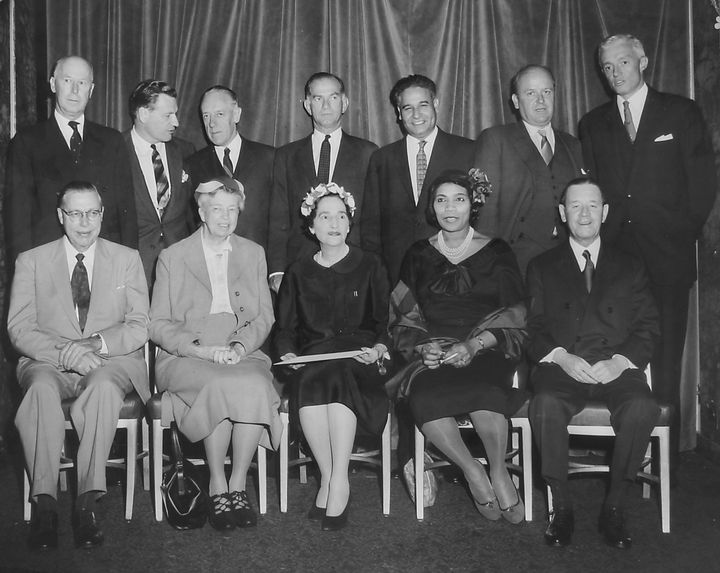Dalip Singh Saund, top row third from the right,was the first South Asian American elected to Congress.