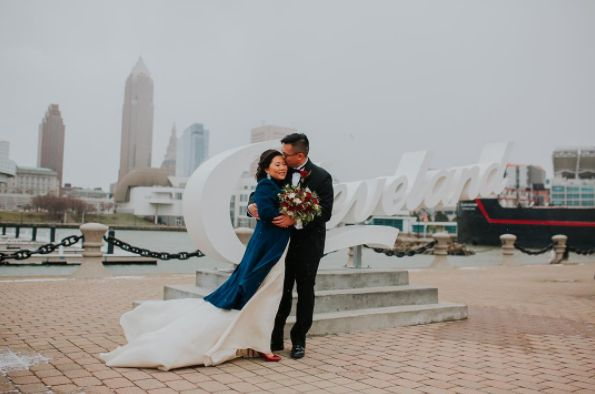 """Little cold on the lake, but Sulin and Ted (and an amazing bridal party!) did a great job!"" -- <i>Jessica Love</i>"