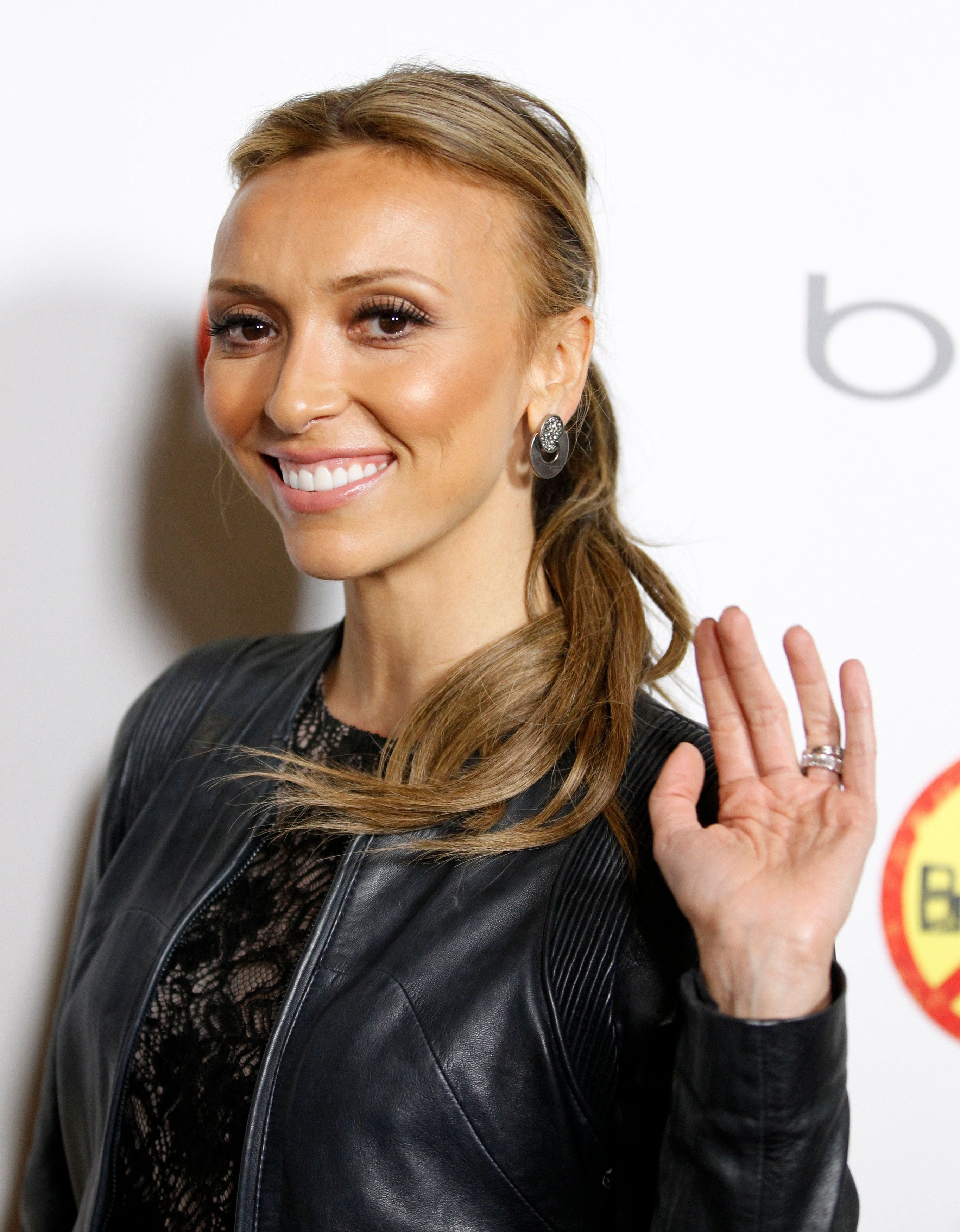 """Television personality and the evening's co-host Giuliana Rancic poses at the Los Angeles premiere of the documentary film """"Bully"""" in Hollywood March 26, 2012. REUTERS/Danny Moloshok (UNITED STATES - Tags: ENTERTAINMENT HEADSHOT)"""