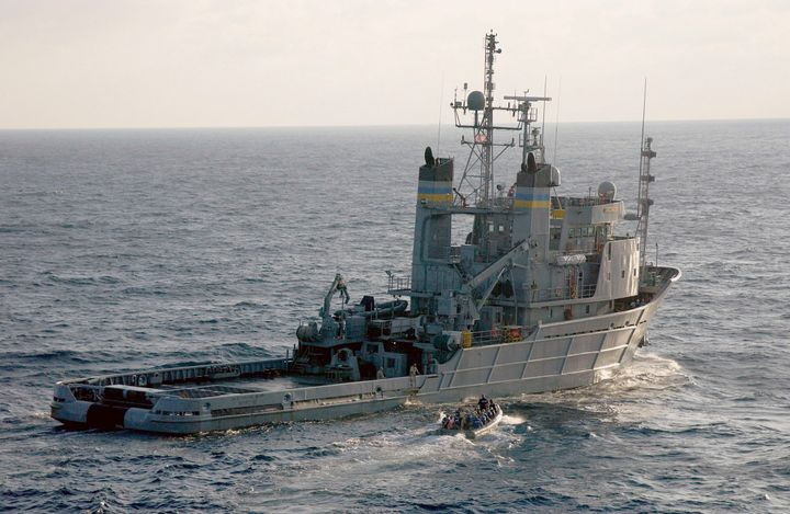 The Navy search-and-rescue vessel Apache, shown in a handout photo, was scheduled to search for the El Faro and its crew memb