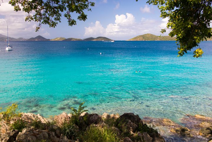 A view of a bay in St. John, USVI.