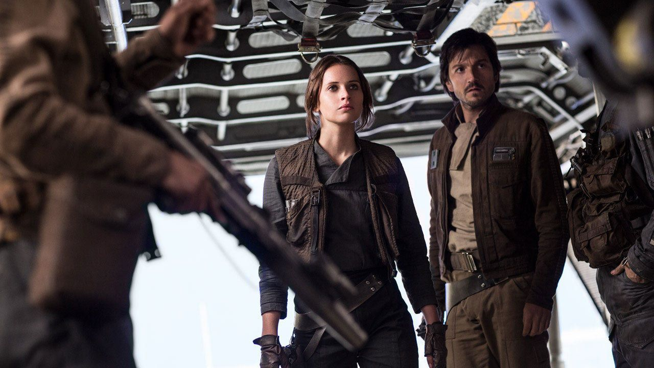 """Rogue One"" actor Diego Luna, right, shared a story on social media that highlights the importance of inclusion in big Hollyw"