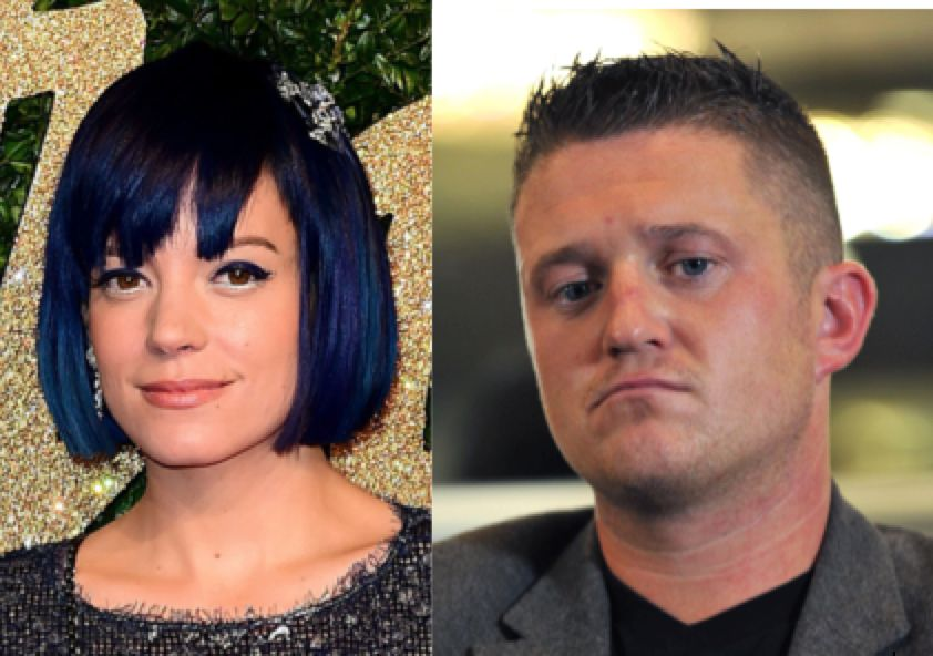 Lily Allen Threatens Tommy Robinson With Legal Action After Heated Twitter