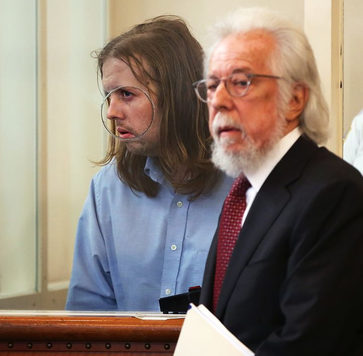 Michael Patrick McCarthy, with his attorney at right.