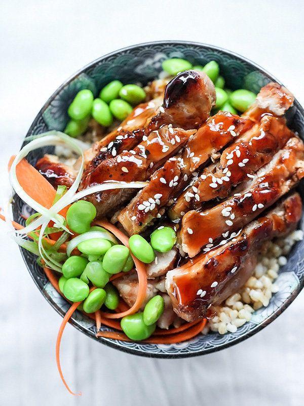 "<strong>Get the <a href=""http://www.foodiecrush.com/2015/01/teriyaki-chicken-rice-bowls/"" target=""_blank"">7 Spice Teriyaki Ch"