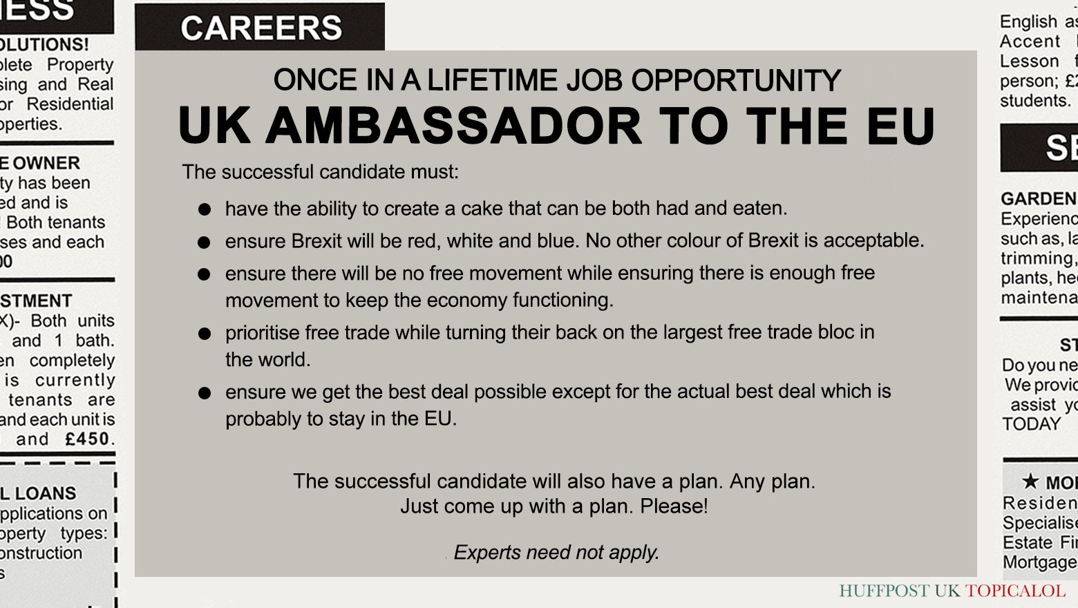 An Exclusive Look At The New Job Spec For UK Ambassador To The