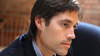 BOSTON - MAY 27: GlobalPost correspondent James Foley talks about being held by the Libyan Government. (Photo by Jonathan Wiggs/The Boston Globe via Getty Images)