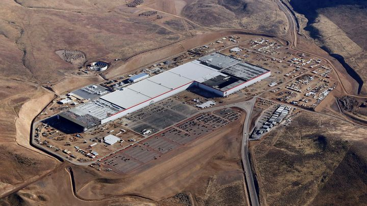 Tesla said its Gigafactory is less than 30 percent complete, but it's already beginning production there.