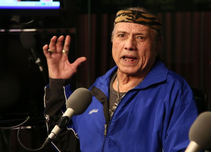 "Charges have been dropped against former professional wrestler Jimmy ""Superfly"" Snuka, seen here in 2013, after a judge ruled"