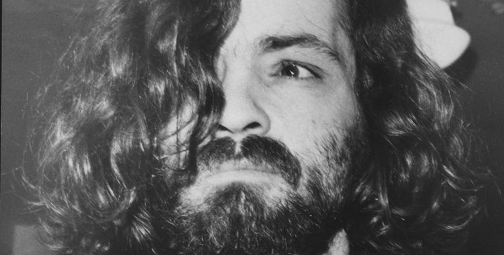 Charles Manson on his way to court in 1970.