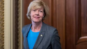 UNITED STATES - SEPTEMBER 7: Sen. Tammy Baldwin, D-Wisc., leaves the Senate Democrats' weekly policy lunch in the Capitol on Wednesday, Sept. 7, 2016. (Photo By Bill Clark/CQ Roll Call)